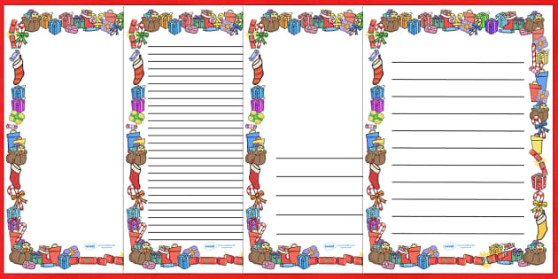 Present Gift Page Borders present gift page border – Border Paper Template