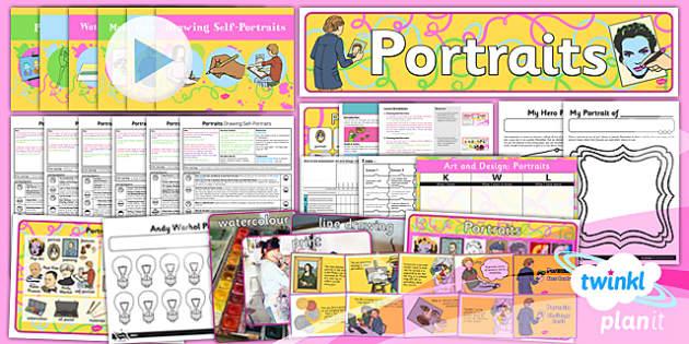 PlanIt Art KS1 Portraits Unit Pack - planit, art, portraits