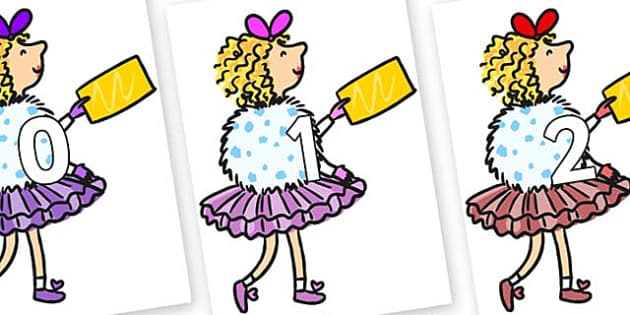 Numbers 0-31 on Veruca Salt - 0-31, foundation stage numeracy, Number recognition, Number flashcards, counting, number frieze, Display numbers, number posters