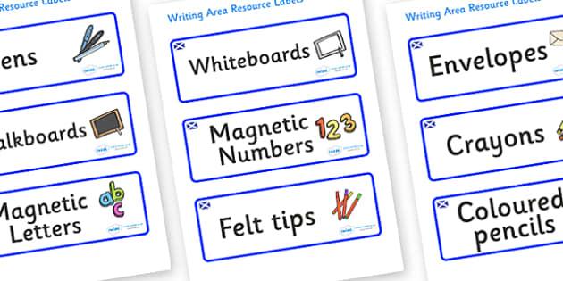 Scotland Themed Editable Writing Area Resource Labels - Themed writing resource labels, literacy area labels, writing area resources, Label template, Resource Label, Name Labels, Editable Labels, Drawer Labels, KS1 Labels, Foundation Labels, Foundati