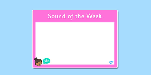 Sound of the Week Poster - sound, week, poster, display, sound of the week