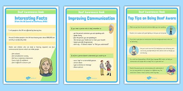 Deaf Awareness Week Display Posters
