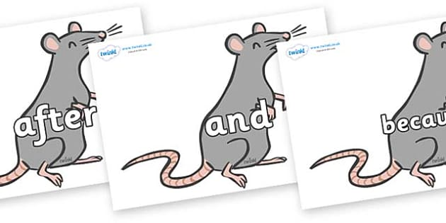 Connectives on Rats - Connectives, VCOP, connective resources, connectives display words, connective displays
