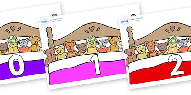Numbers 0-31 on Ten in a Bed - 0-31, foundation stage numeracy, Number recognition, Number flashcards, counting, number frieze, Display numbers, number posters