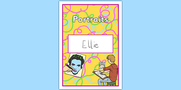Portraits Book Cover - portraits, book cover, book, cover, painting, art, design