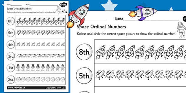 Ordering Numbers Primary Resources, order, ordinal - Page 1