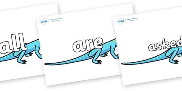 Tricky Words on Lizards - Tricky words, DfES Letters and Sounds, Letters and sounds, display, words