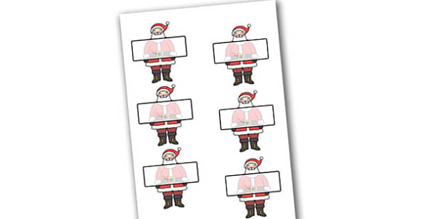 Self Registration Labels (Santa) Editable  - self registration