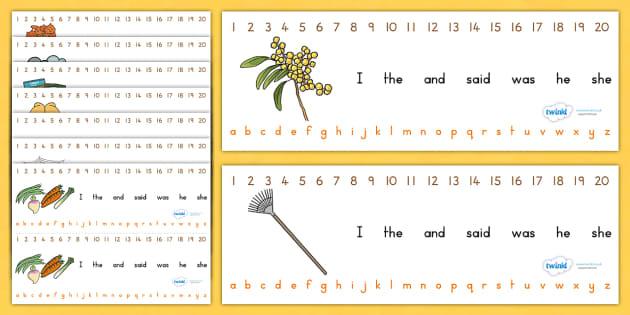 Autumn Combined Number Alphabet Strips - a-z strips, a-z, seasons