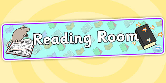 Reading Room Display Banner- reading room, reading, display banner, banner for display, reading banner, reading display, area signs, classroom display
