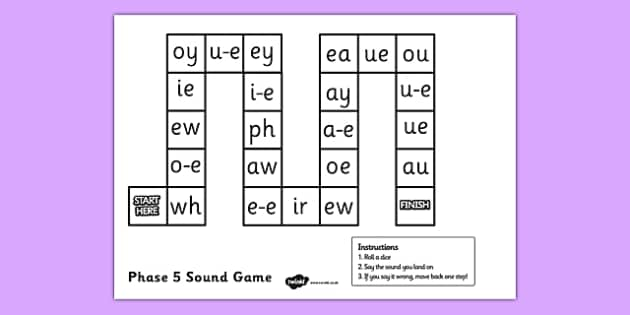 Phase 5 Sounds Game Board - phase 5, phase 5 sounds game, phase 5 sounds, game board, phase 5 game board, sounds game board