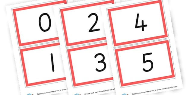 Large Number Cards 0-20 - Carpet Area Primary Resources, signs, area, zones, banner, poster