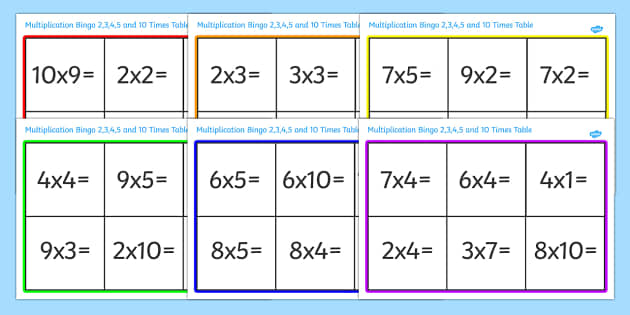 2x2 Multiplication Worksheets multiplication worksheets – Multiplication Worksheets 2 3 4 5 10