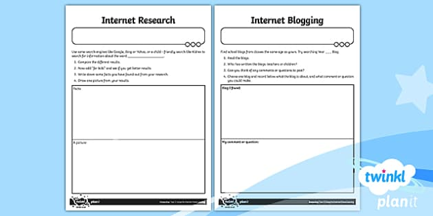 PlanIt - Computing Year 2 - Using the Internet Home Learning Tasks - Y2 PlanIt Computing Using the Internet, internet, safety, search, web, world wide, www, chrome, expl
