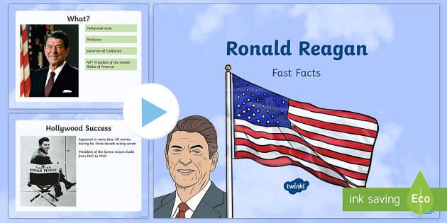 Ronald Reagan Fast Facts PowerPoint - American Presidents, American History, Social Studies, Barack Obama, Lyndon B. Johnson, Franklin D.