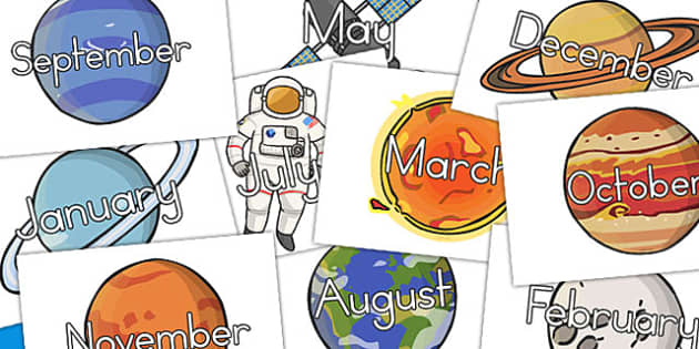Space Months Of The Year (Australia) - month, visuals, displays