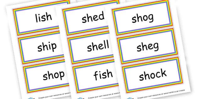Sh Words Cards - Initial Blends Primary Resources, initial letter, letter blend