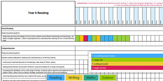 New Curriculum Year 6 Reading Writing Maths Science Assessment - new curriculum, year 6, reading, writing, maths, science, read, write, assessment, assess
