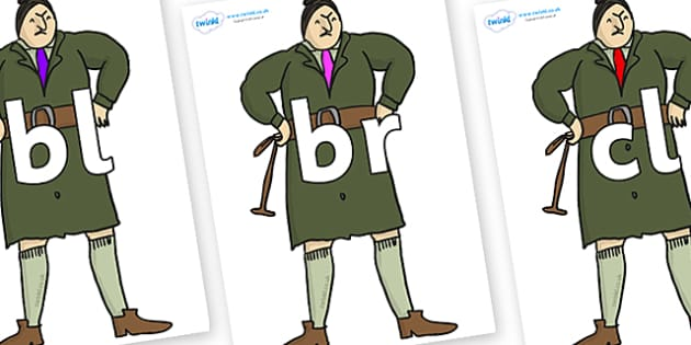 Initial Letter Blends on Mrs Trunchbull to Support Teaching on Matilda - Initial Letters, initial letter, letter blend, letter blends, consonant, consonants, digraph, trigraph, literacy, alphabet, letters, foundation stage literacy