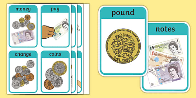 CfE First Level Numeracy and Mathematics Money Keyword Flashcards-Scottish