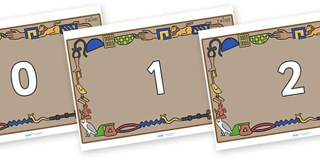 Numbers 0-50 on Egyptian Bricks - 0-50, foundation stage numeracy, Number recognition, Number flashcards, counting, number frieze, Display numbers, number posters