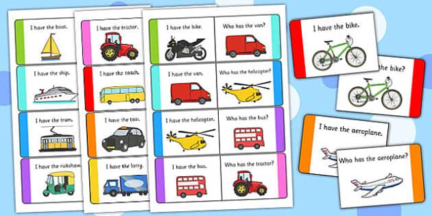 Transport Loop Cards - transport, loop cards, loop, cards, activity