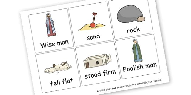Wise and foolish man - The Wise Man and the Foolish Man Primary Resources, Sunday School