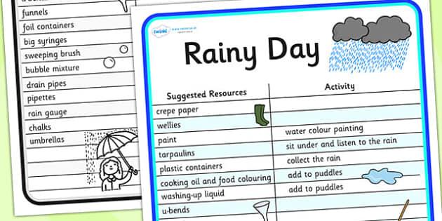 Rainy Day Outdoor Play Ideas - rainy day, rain, outdoor play, play ideas, ideas for play, games, activities, game ideas, activity ideas, ideas for games