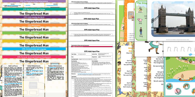 The Gingerbread Man Lesson Plan, Enhancement Ideas and Resource Teaching Pack