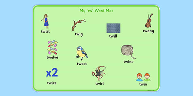 TW Word Mat - sen, sound, special educational needs, tw, word mat