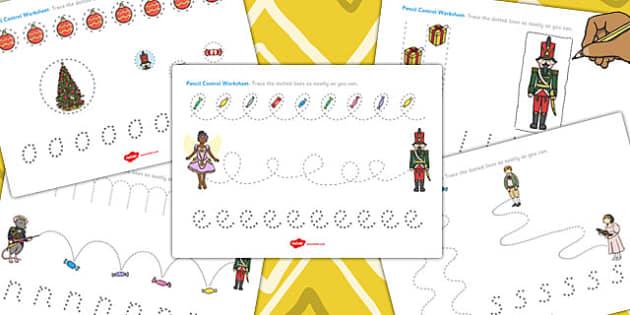 The Nutcracker Pencil Control Sheets - nutcracker, control, sheet
