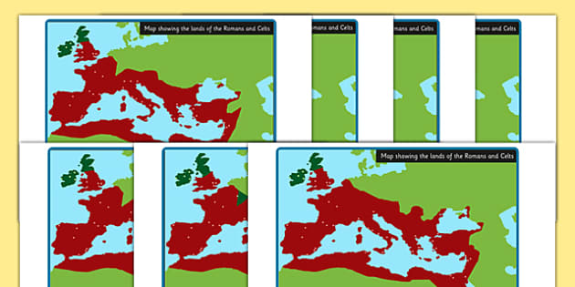 Roman Empire Celts and Romans Display Maps - romans, celts, maps