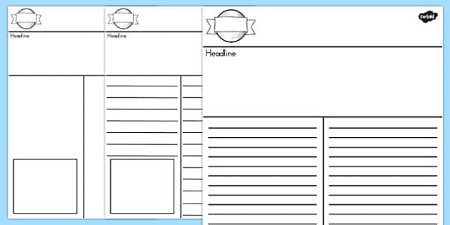 Newspaper Template - australia, newspaper, template, writing