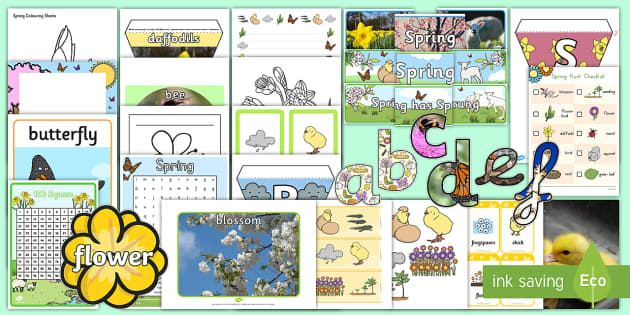 Spring Display Pack - Spring, Easter, Care Homes, Elderly Care, Ideas, Support, Activity Co-ordinators, Season
