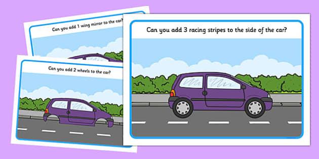 Counting 1-5 Car Playdough Mats - fine motor, playdough, counting, cars, transport
