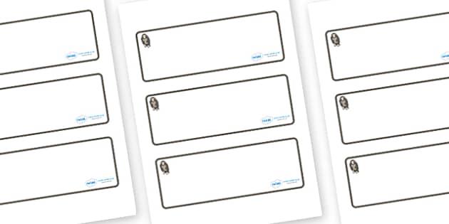 Monkey Themed Editable Drawer-Peg-Name Labels (Blank) - Themed Classroom Label Templates, Resource Labels, Name Labels, Editable Labels, Drawer Labels, Coat Peg Labels, Peg Label, KS1 Labels, Foundation Labels, Foundation Stage Labels, Teaching Label