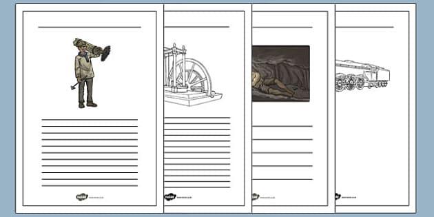 The Industrial Revolution Writing Frames - industrial revolution