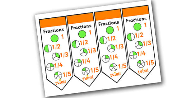 Fractions Bookmarks - fractions, fractions bookmark, numeracy bookmarks, ks2 numeracy, ks2 numeracy bookmarks, working with fractions, fraction work