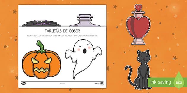 Halloween actividad de coser