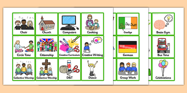 Small KS2 Visual Timetable - small, ks2, visual timetable, visual, timetable