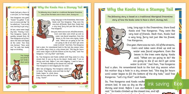 Why the Koala Has a Stumpy Tail Story-Australia