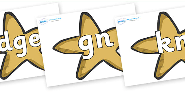 Silent Letters on Starfish - Silent Letters, silent letter, letter blend, consonant, consonants, digraph, trigraph, A-Z letters, literacy, alphabet, letters, alternative sounds