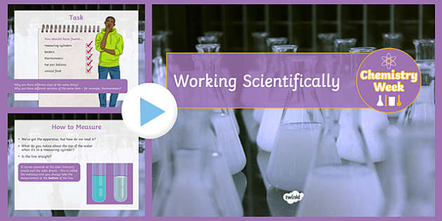 Working Scientifically  Chemistry Week PowerPoint
