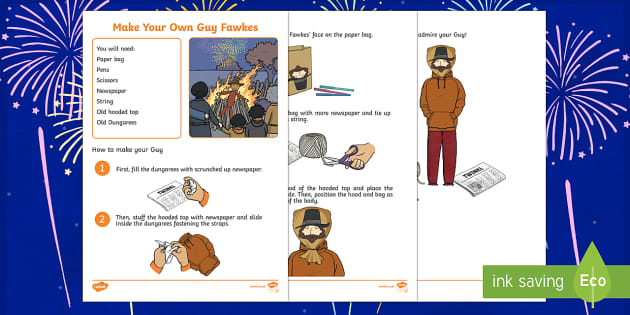 Make your own Guy Fawkes Step-by-Step Instructions