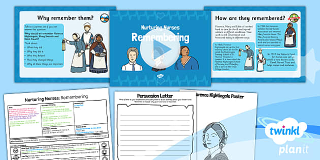 PlanIt - History KS1 - Nurturing Nurses Lesson 6: Remembering Lesson Pack