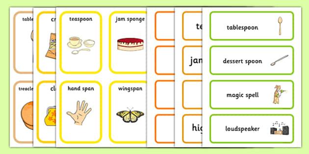 Pack Word SP Cards - pack, word, sp, sp sound, word cards, sp cards, sp words