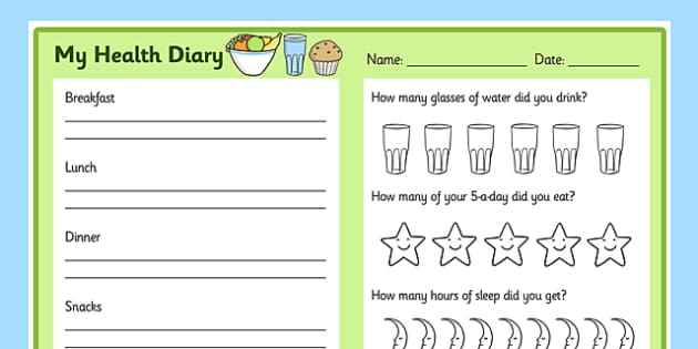 Healthy Living Diary Record Sheet healthy living healthy – 3 Day Food Diary Template