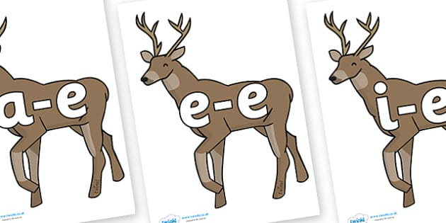 Modifying E Letters on Stags - Modifying E, letters, modify, Phase 5, Phase five, alternative spellings for phonemes, DfES letters and Sounds