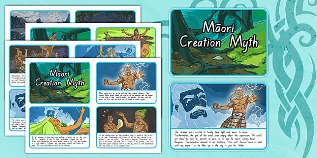 Māori Creation Myth Story Sequencing Cards