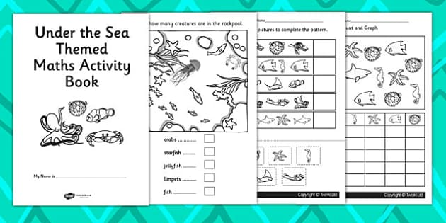 Under the Sea Themed KS1 Maths Activity Book - numeracy, booklet